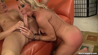 Super Sexy Blond Mother Recieves Fucked Nice And Rough!